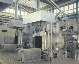 Batch type gas carbonization furnace